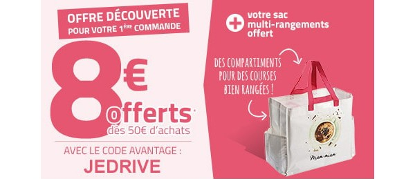 auchan drive sac cadeau surprise et 8 offerts. Black Bedroom Furniture Sets. Home Design Ideas
