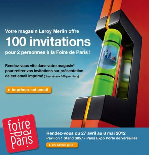 foire de paris 2012 invitations gratuites. Black Bedroom Furniture Sets. Home Design Ideas