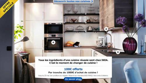ikea cuisine 100 offerts tous les 1000 d 39 achat. Black Bedroom Furniture Sets. Home Design Ideas