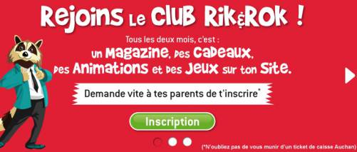 inscription gratuite au club rik