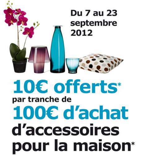 ikea 10 offerts tous les 100 d 39 achats. Black Bedroom Furniture Sets. Home Design Ideas