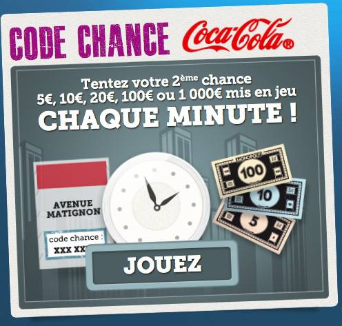 monopoly mc do 2012 vignette code chance gagner de 5? à 10 000?