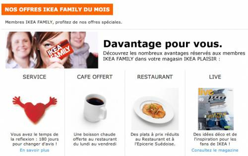 ikea family caf gratuit du lundi au vendredi. Black Bedroom Furniture Sets. Home Design Ideas