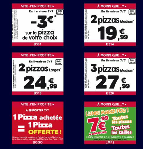 bons de reductions domino's pizza