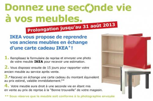 ikea vos anciens meubles contre une carte cadeau. Black Bedroom Furniture Sets. Home Design Ideas