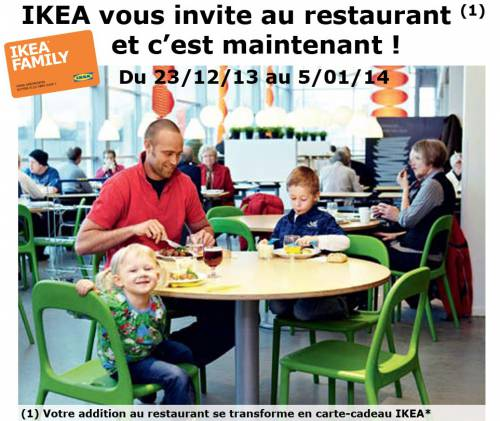 ikea vous invite au restaurant 1 carte cadeau. Black Bedroom Furniture Sets. Home Design Ideas