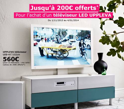 ikea tv uppleva 200 en carte cadeau offerts. Black Bedroom Furniture Sets. Home Design Ideas