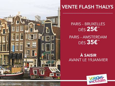 Promo thalys 2014 train europe 25 - Discount vente flash ...