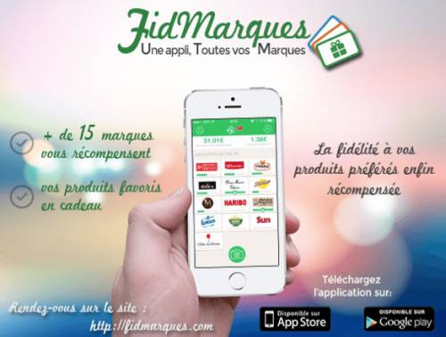 application mobile fidmarques gratuite sur iphone et android