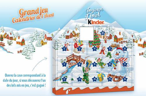 jeu calendrier de l 39 avent kinder no l 2015. Black Bedroom Furniture Sets. Home Design Ideas