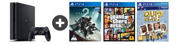 pack ps4 destiny 2 gta v qui es tu