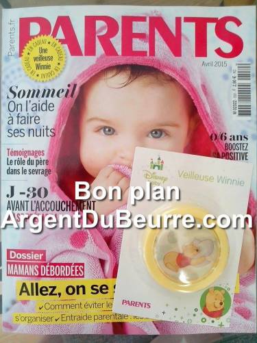 cadeau parents avril 2015 : une veilleuse winnie offerte