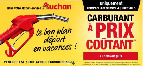 auchan carburant prix co tant juillet 2015. Black Bedroom Furniture Sets. Home Design Ideas
