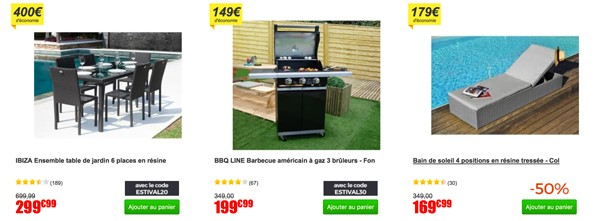 cdiscount promo plein air