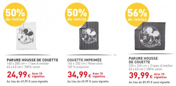 Carrefour Vignettes Articles Mickey à 60